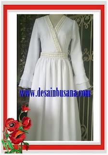 Gamis design White princess / Gamis Anggun