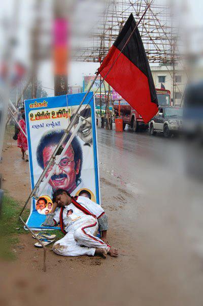 admk amma pasarai dmk protest in chennai