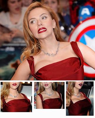 Scarlett Johansson boob slip funny