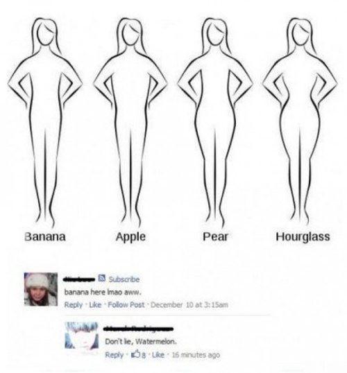 Banana, Apple, Pear, Hourglass