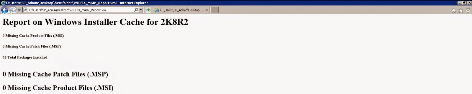 No Windows Installer Cache Issue