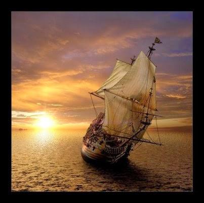 La nace de Ulises al mar