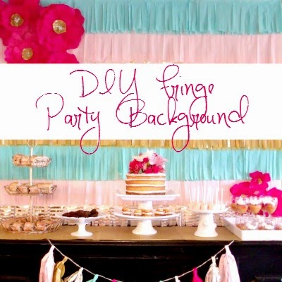 DIY Fringe Party Background