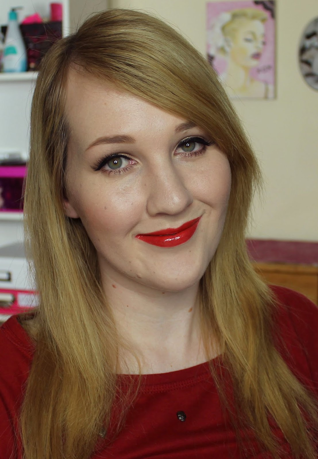ZA Rich-Glam Liquid Rouge Limited Edition Vivid Red Swatches & Review