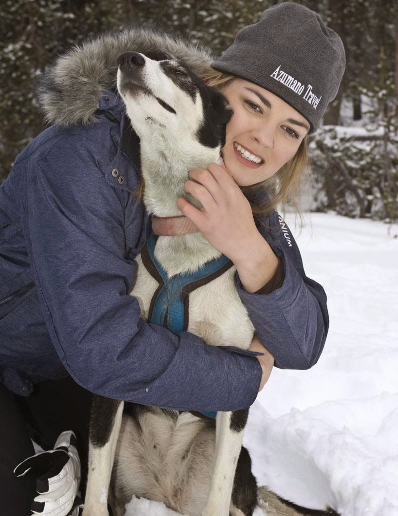 Rachael Scdoris is a competitive dogsled racer.