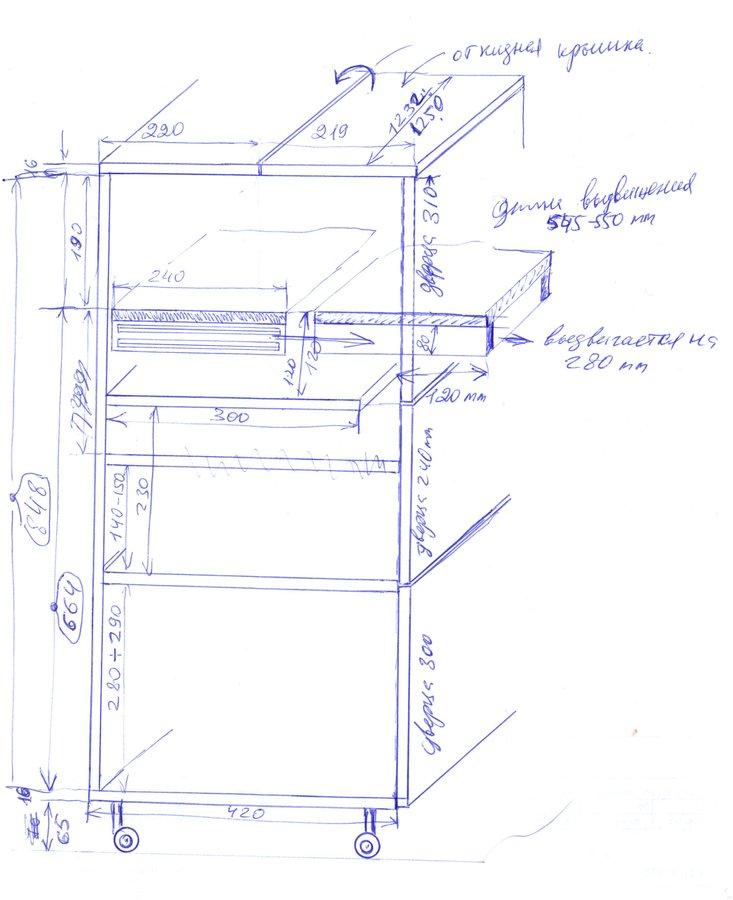 Стол для вязальной машины своими руками чертежи 642