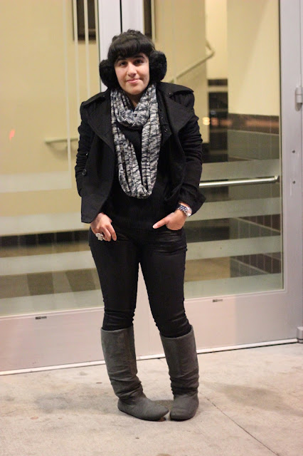 Winter Pea Coat Outfit