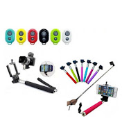Buy KSJ Selfy Selfie Stick With Bluetooth Remote for Android and ios Phones (Set of 5) at Rs. 383 : BuyToEarn
