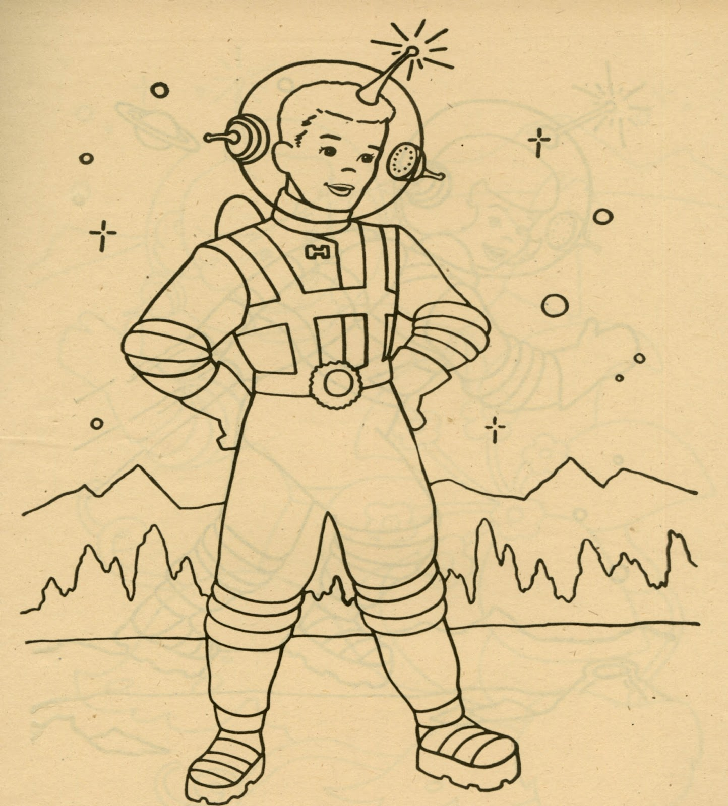 TV Space Riders Coloring Book 1952