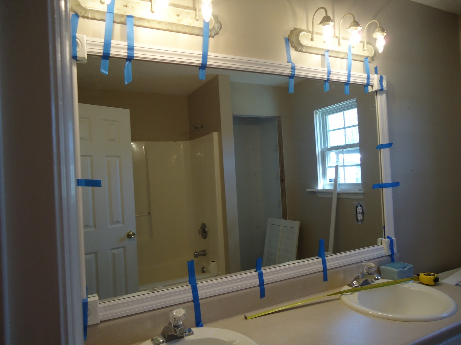KASBN Master Bath Part 5 Framed Mirror