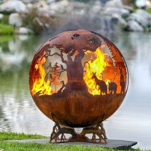 campfire for backyard australian sphere