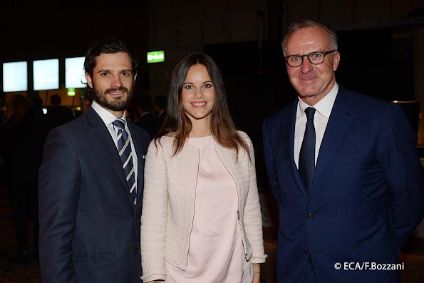 Prince Carl Philip of Sweden and Sofia Hellqvist attended the meeting of the 14th European Club Association (ECA) General Assembly in Stockholm