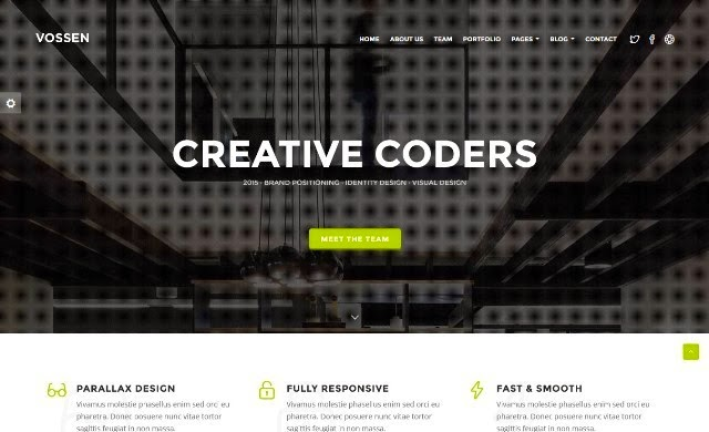 Vossen - Creative One-Page Parallax Drupal Theme