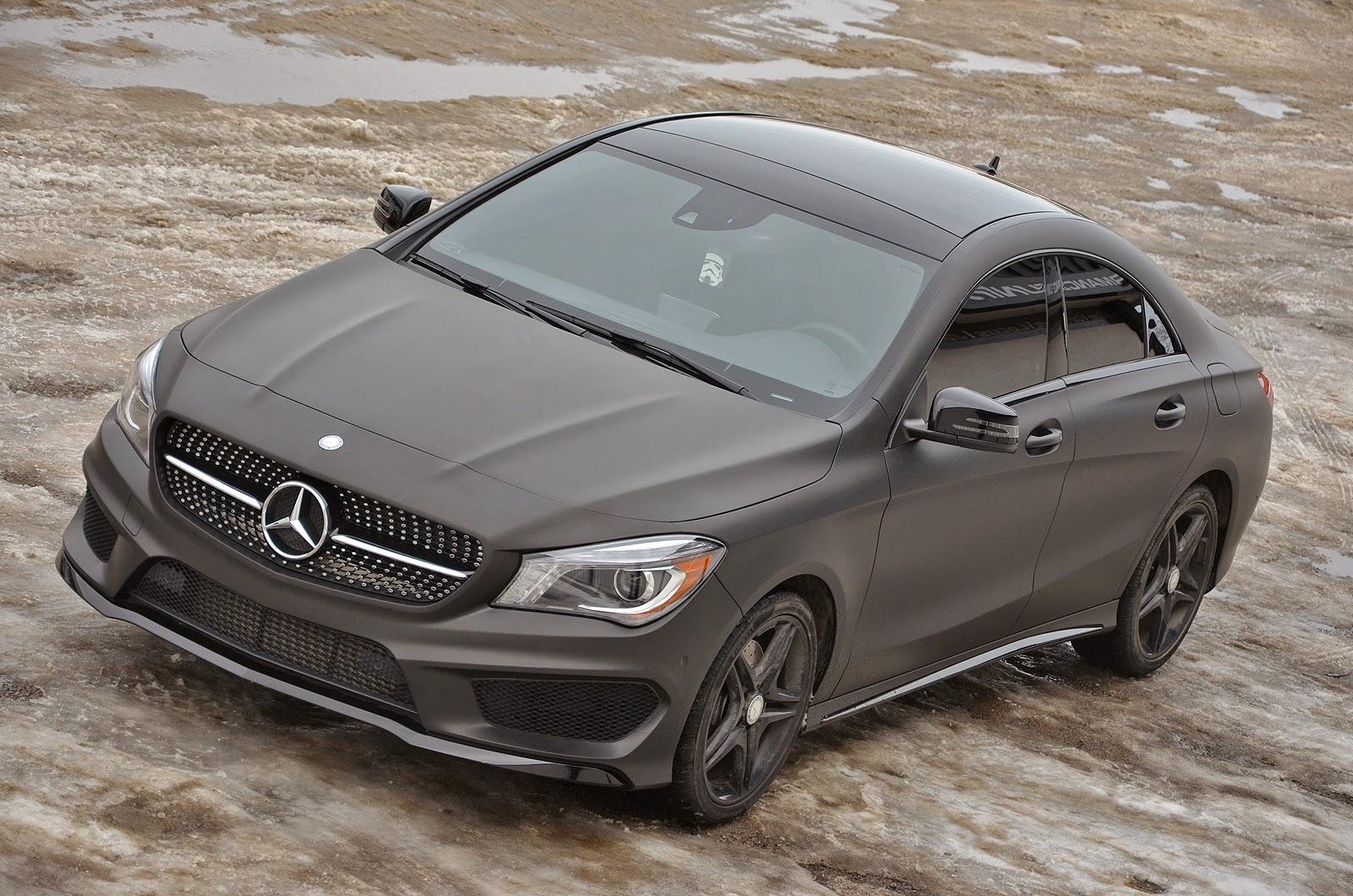Mercedes cla 250 matte black the image for Mercedes benz matte black