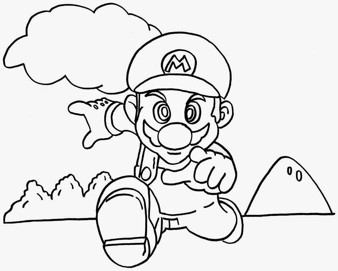 Free mario coloring pages to print - Free Mario Bros Online Coloring Pages