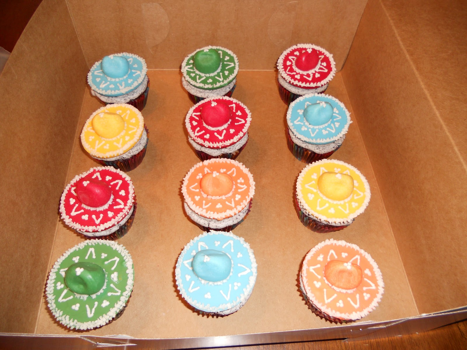 Sombreros, Cupcake toppers and Cupcake on Pinterest