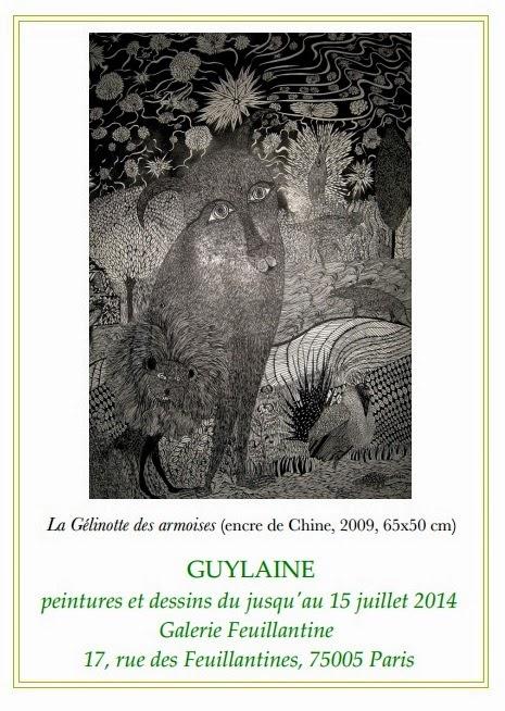 GUYLAINE, EXPOSITION PEINTURES ET DESSINS, GALERIE FEUILLANTINE, PARIS