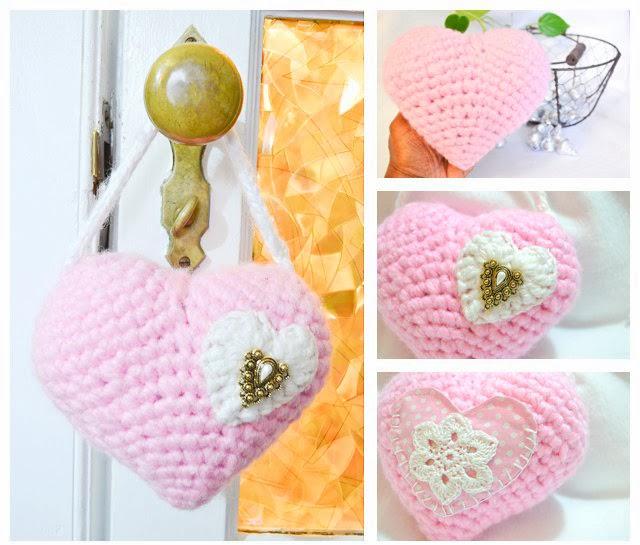 Cynthia s handiwork tooth fairy heart crochet pillow
