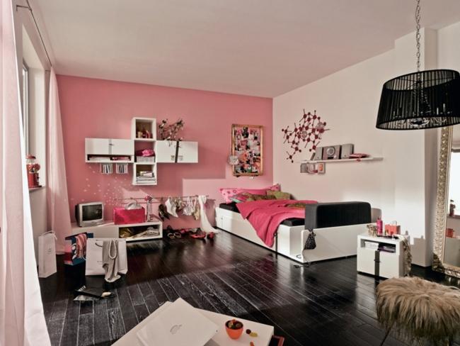 Habitaciones con estilo: DORMITORIOS EN ROSA Y NEGRO PARA CHICAS