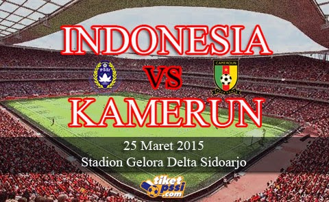 Timnas Indonesia vs Kamerun Friendly Match 2015