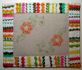 mug rug embroidery