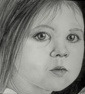 draw young girl's face - step 6
