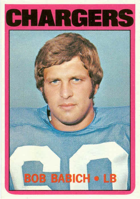 1972 Football Cards San Diego Chargers