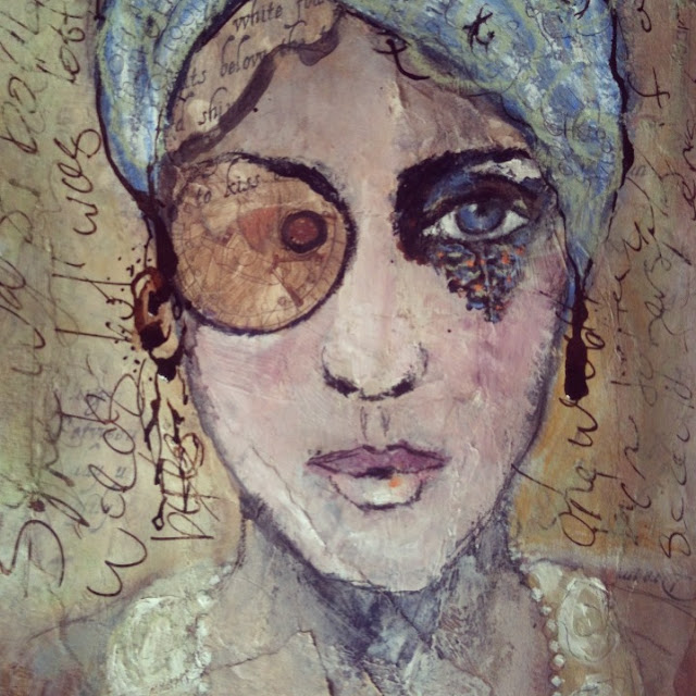 Galia Alena, journal page, face a day challenge, art journal