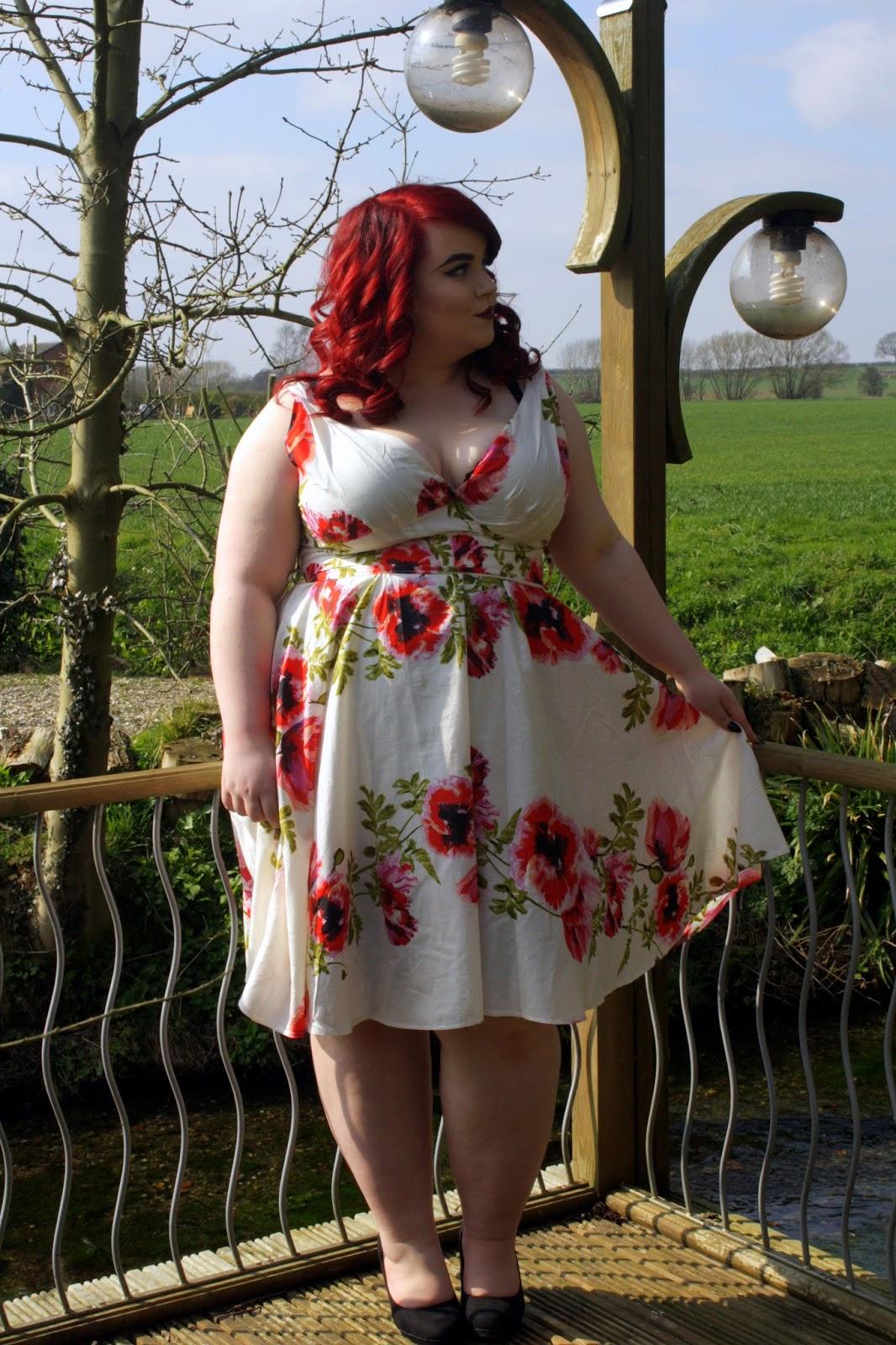 BBW Couture - Rose Vine, 1950s Vintage Party Dress, georgina grogan, shemightbeloved