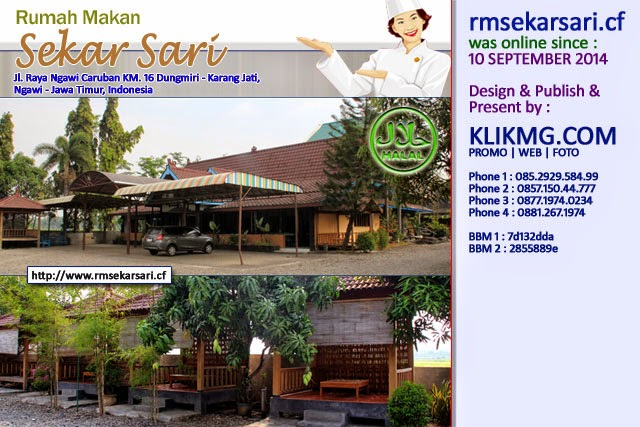 http://www.rmsekarsari.cf :: sudah online sejak : 10 September 2014 - RM Sekar Sari - Karang Jati - Ngawi, Jawa Timur.