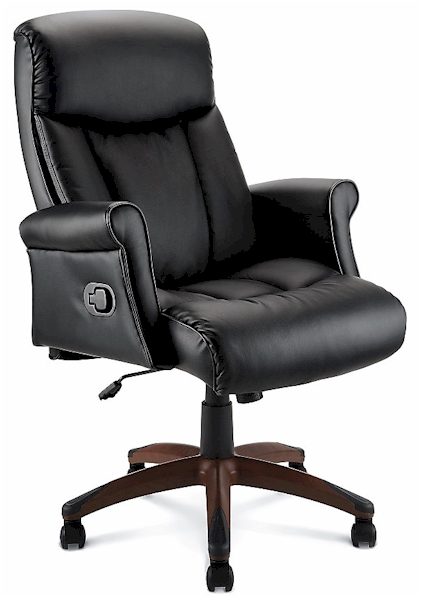 EXPIRED: La Z Boy Rudlowe Bonded Leather Executive Chair In Black Or Brown,  $91 With Free Shipping