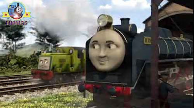 Hero Thomas and friends Hiro of the rails Island of Sodor Waste Dump lime green Scruff the Scruncher