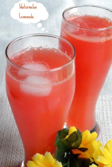 Watermelon Lemonade ~ Nalini'sKitchen