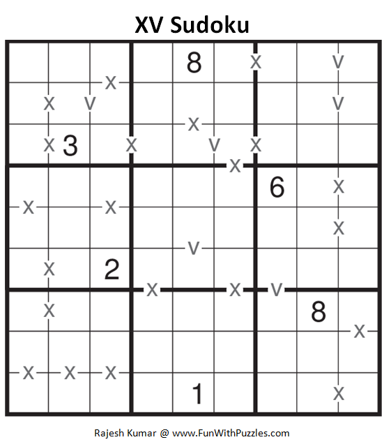 XV Sudoku (Fun With Sudoku #138)