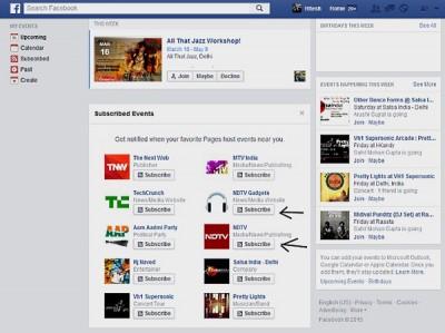 Facebook Mungkinkan Pengguna Berlangganan Info Event