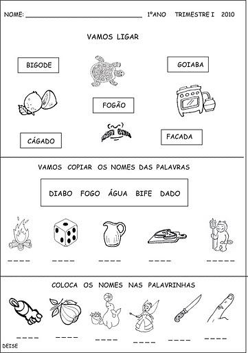 Educando Por Amor Atividades De Alfabetização Jardim Ii E 1ºano