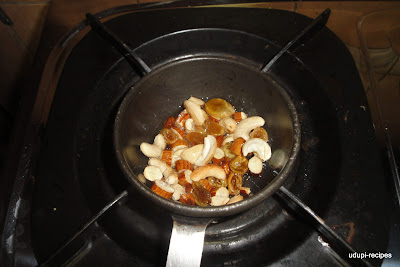frying dry fruits