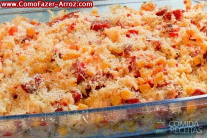 Arroz ao forno - quais ingredientes