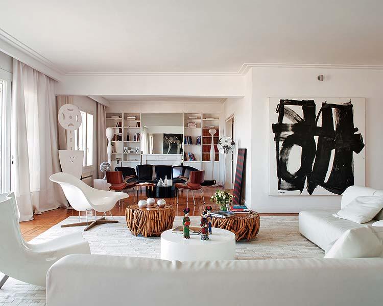 Die Wohngalerie Elegante Einrichtung In Schwarz Wei Mit