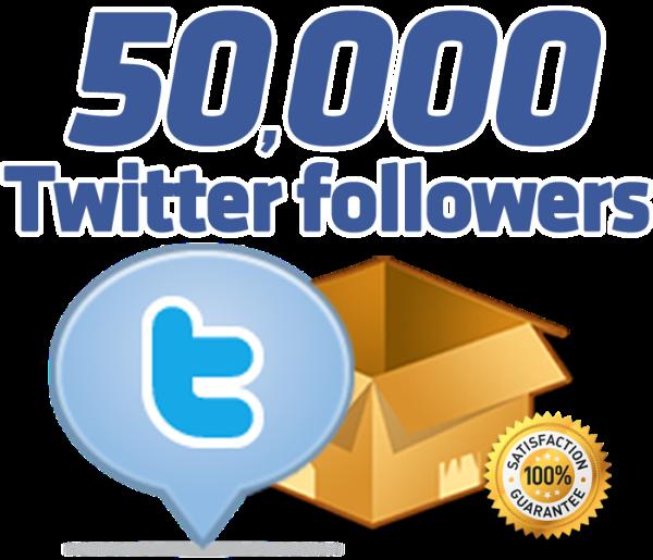 50000 Twitter Followers