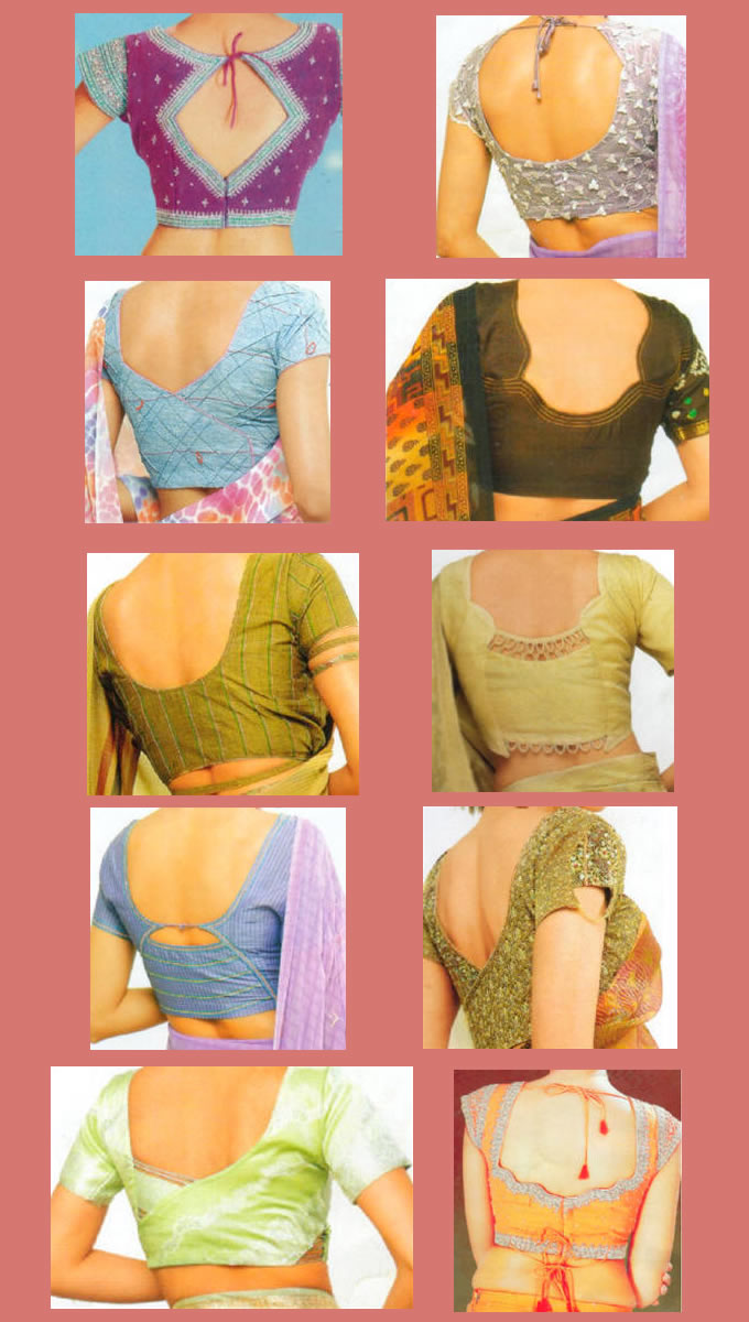 Zari Blouse Back Designs 107