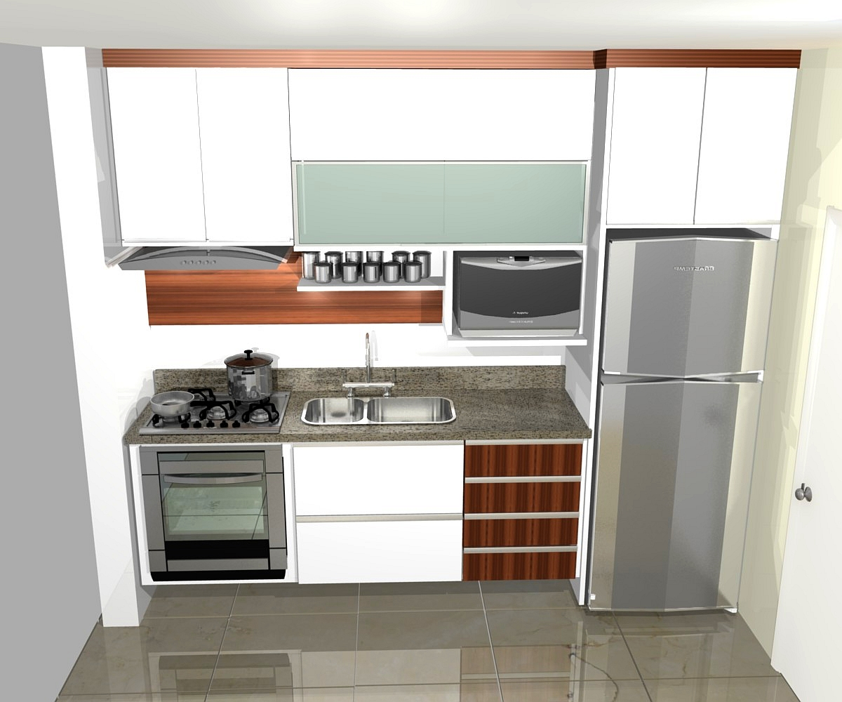 PROJETOS (11) 3976 8616: cozinha planejadas pequenas decorada #723E26 1200 1000