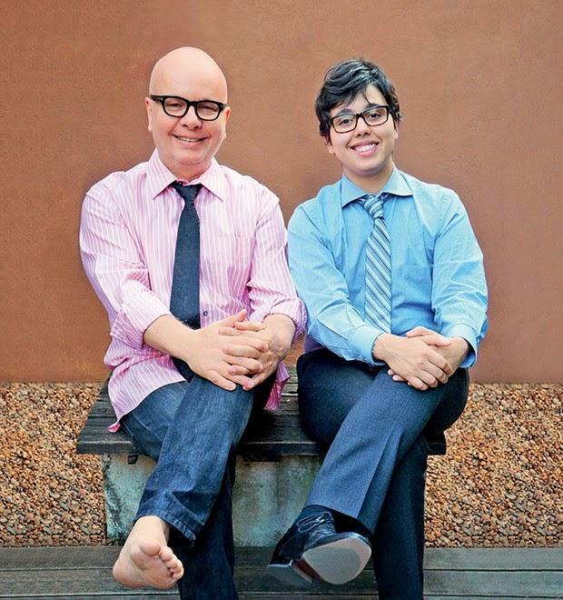 Marcelo tas e seu filho luc