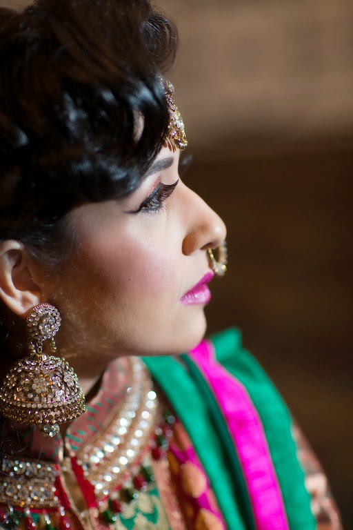 indian wedding, mehndi, bride, makeup, jewelry