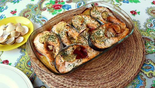 salmon al horno con patatas