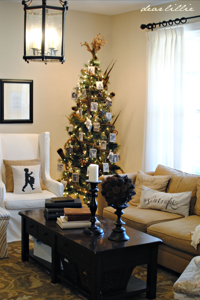 simple and inexpensive christmas d cor from dear lillie. Black Bedroom Furniture Sets. Home Design Ideas