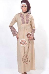 Manet Gamis 3235 - Coklat Susu Muda (Toko Jilbab dan Busana Muslimah Terbaru)