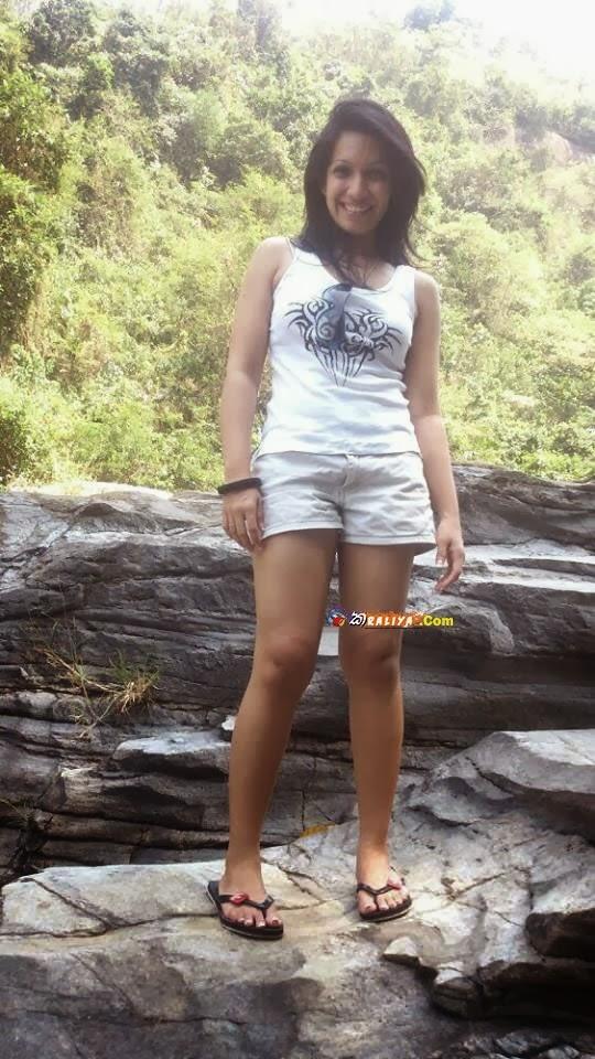 Nehara Peris hot white shorts
