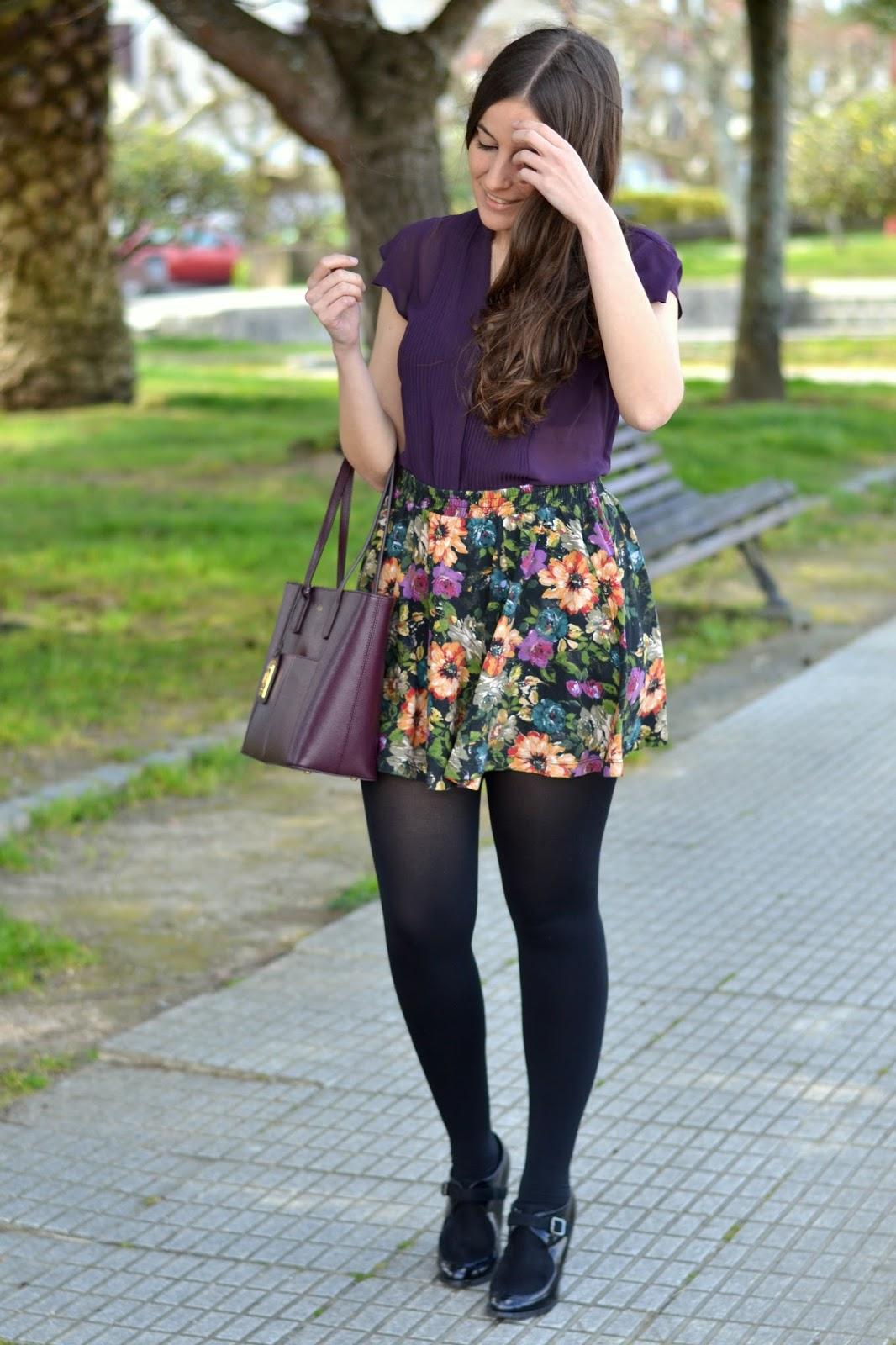 floral print skirt zara