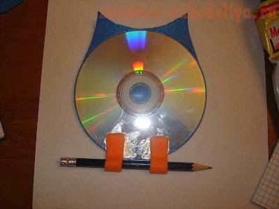 reciclagem cd bloquinho de anotações como fazer corujinha de feltro